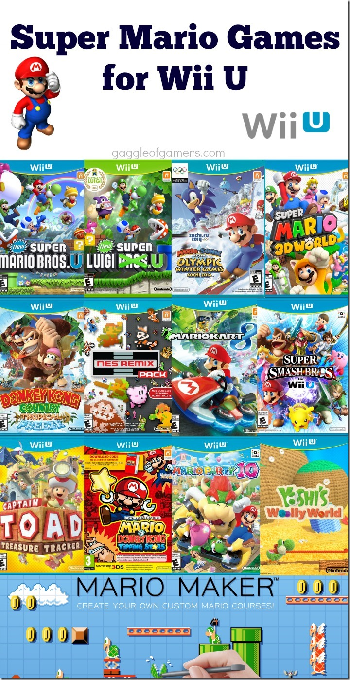 Super Mario Games for Wii U
