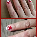 Super Mario Bros Toad Nail Art