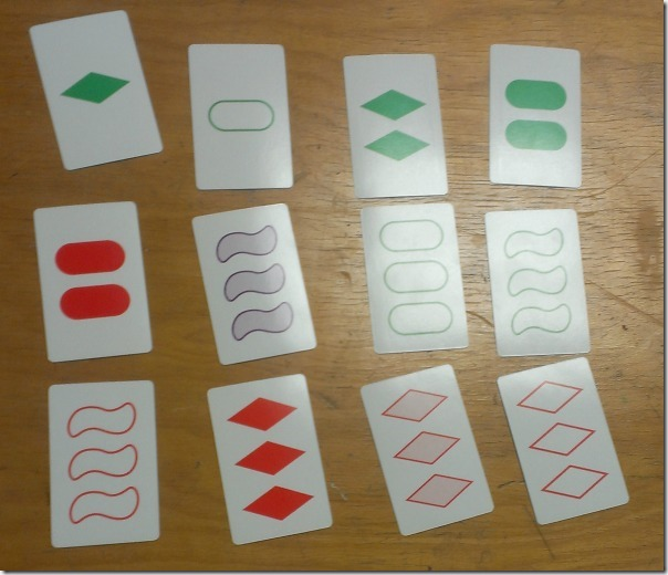 Set: The Family Game of Visual Perception Example