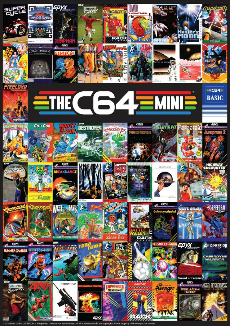 THEC64 Mini Games Collage